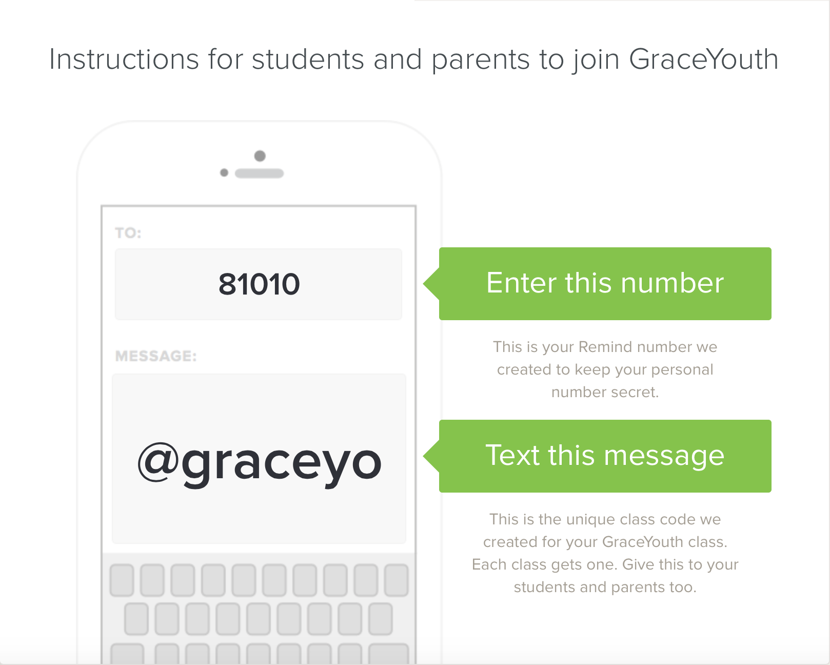 GraceYouth Text Notification